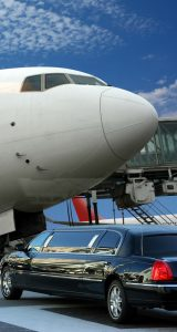 Limousine at Private Airport